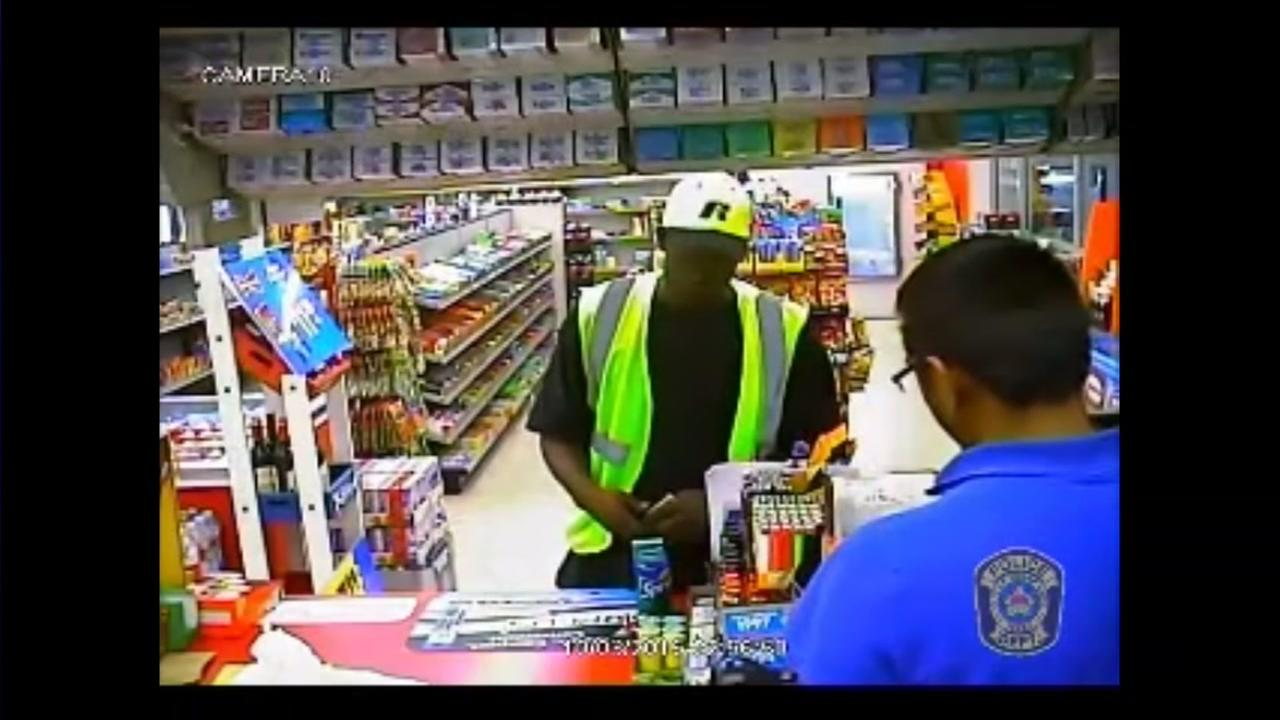 Robbery suspect caught on camera