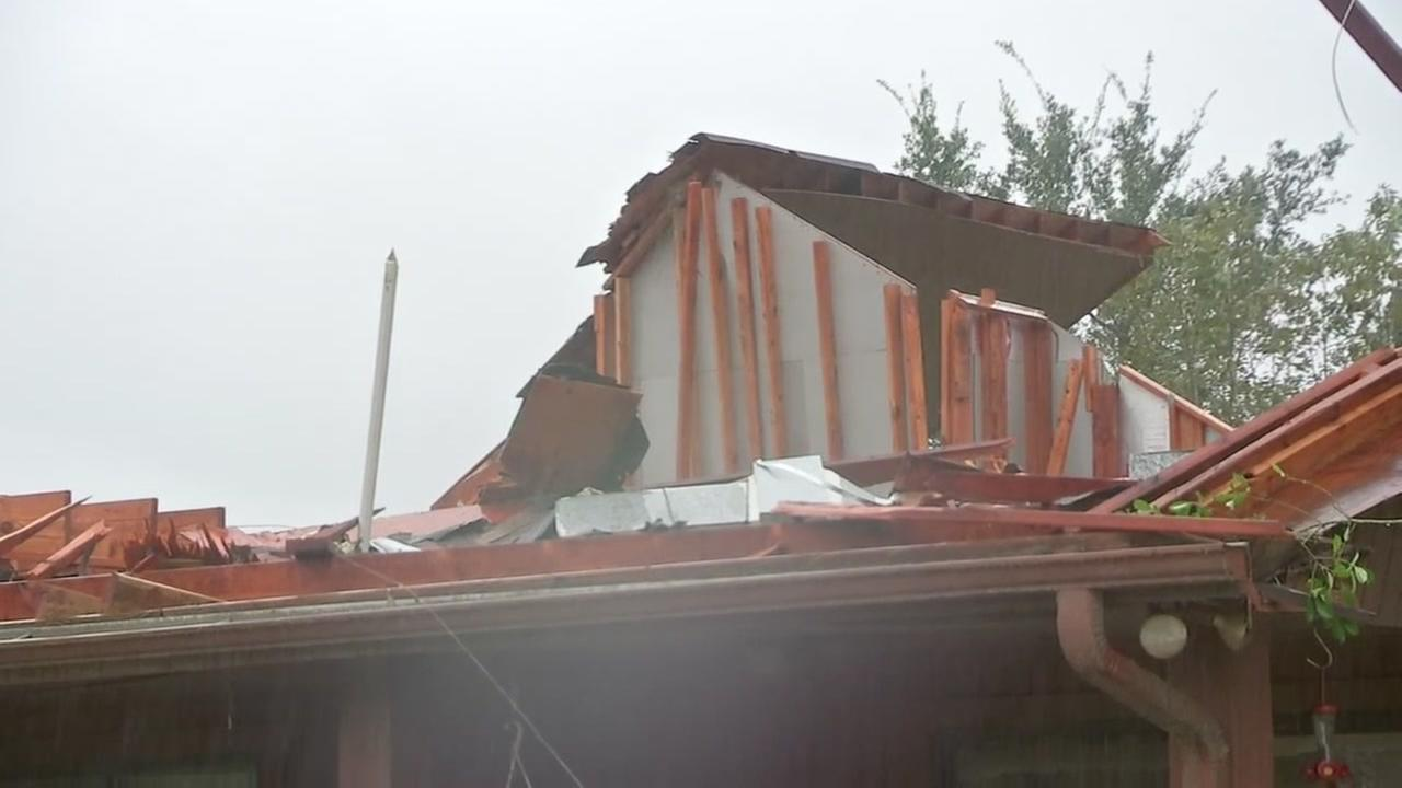 Homes damaged in Friendswood area