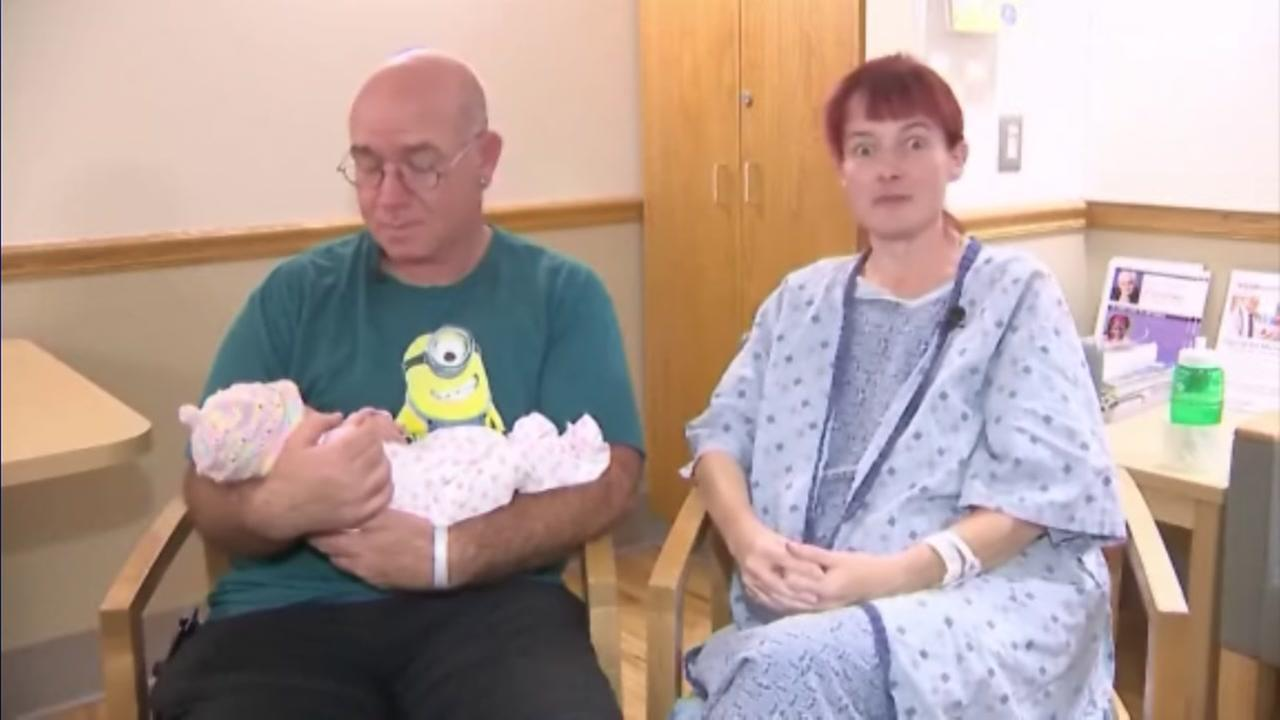 Woman has surprise birth