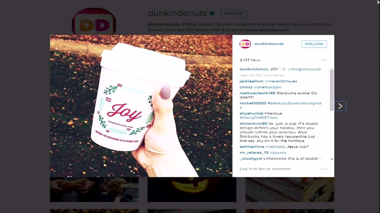 Dunkin Donuts holiday cups