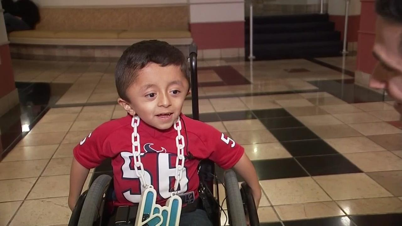 Texans fan gets part of wish granted