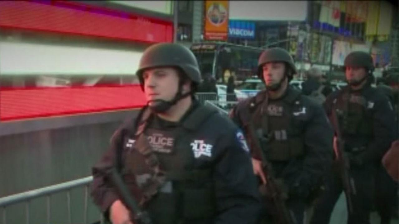 New York City Police in Times Square