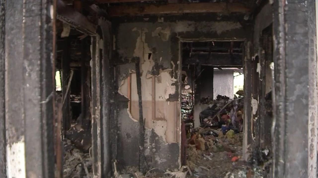 Fire damages familys home