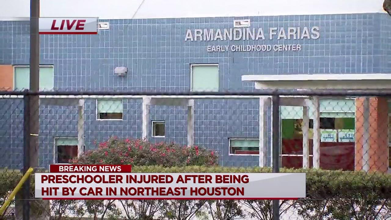 Boy struck by car outside HISD-run preschool