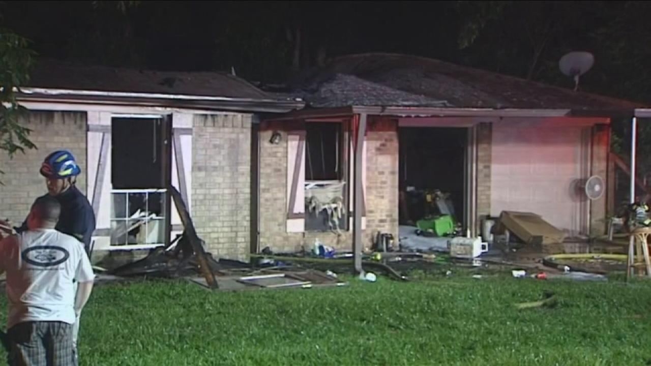 Lightning sparks house fire
