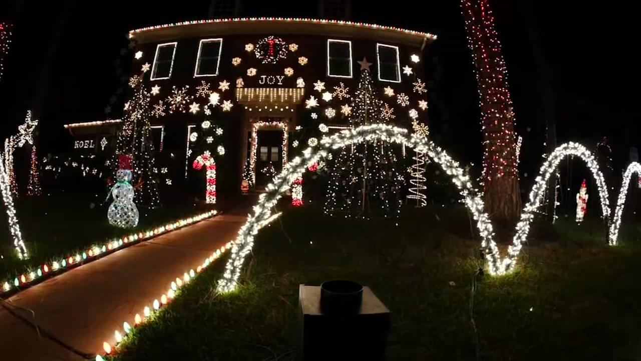 Homeowner takes Christmas decorations to new level
