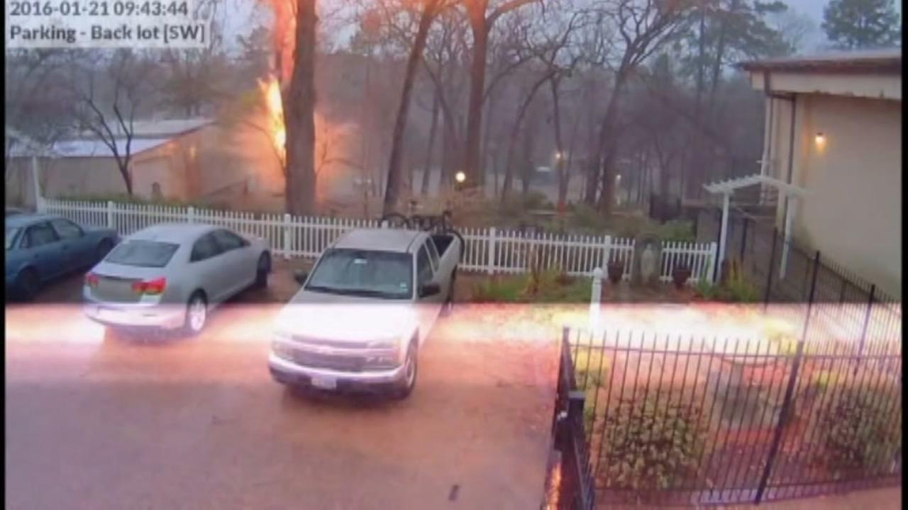 Video shows power, danger of lightning strike