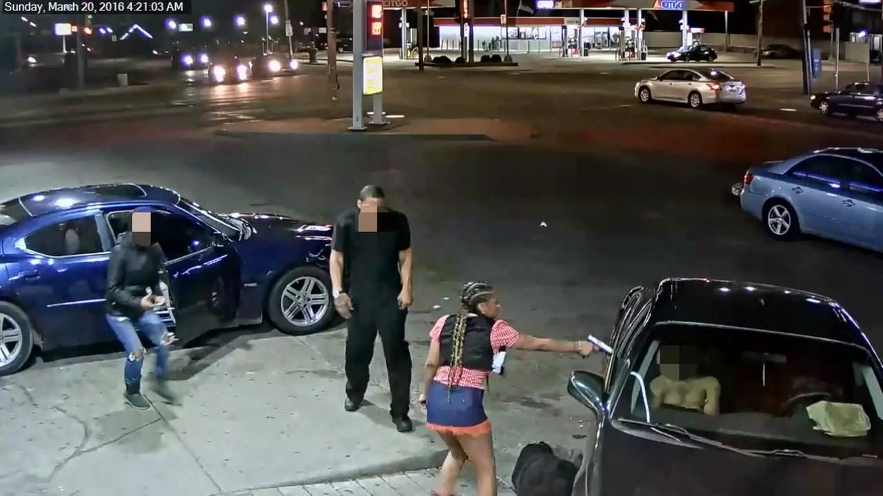 Gas station shooting caught on camera