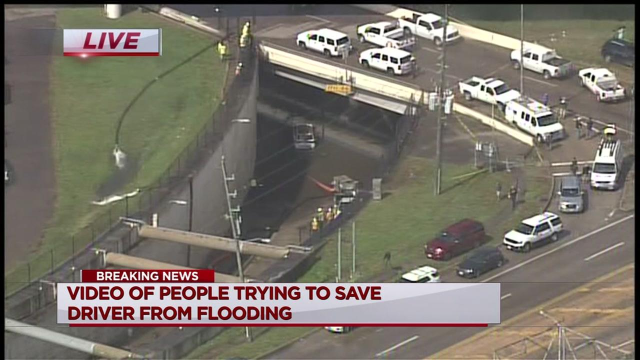 Body recovered from car at flooded Galleria-area underpass