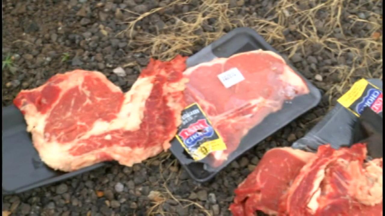 Stolen steaks spark chase