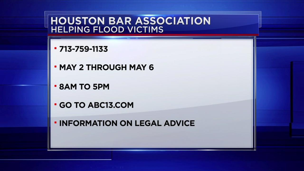 Houston Bar Association offers free legal advice for flood victims