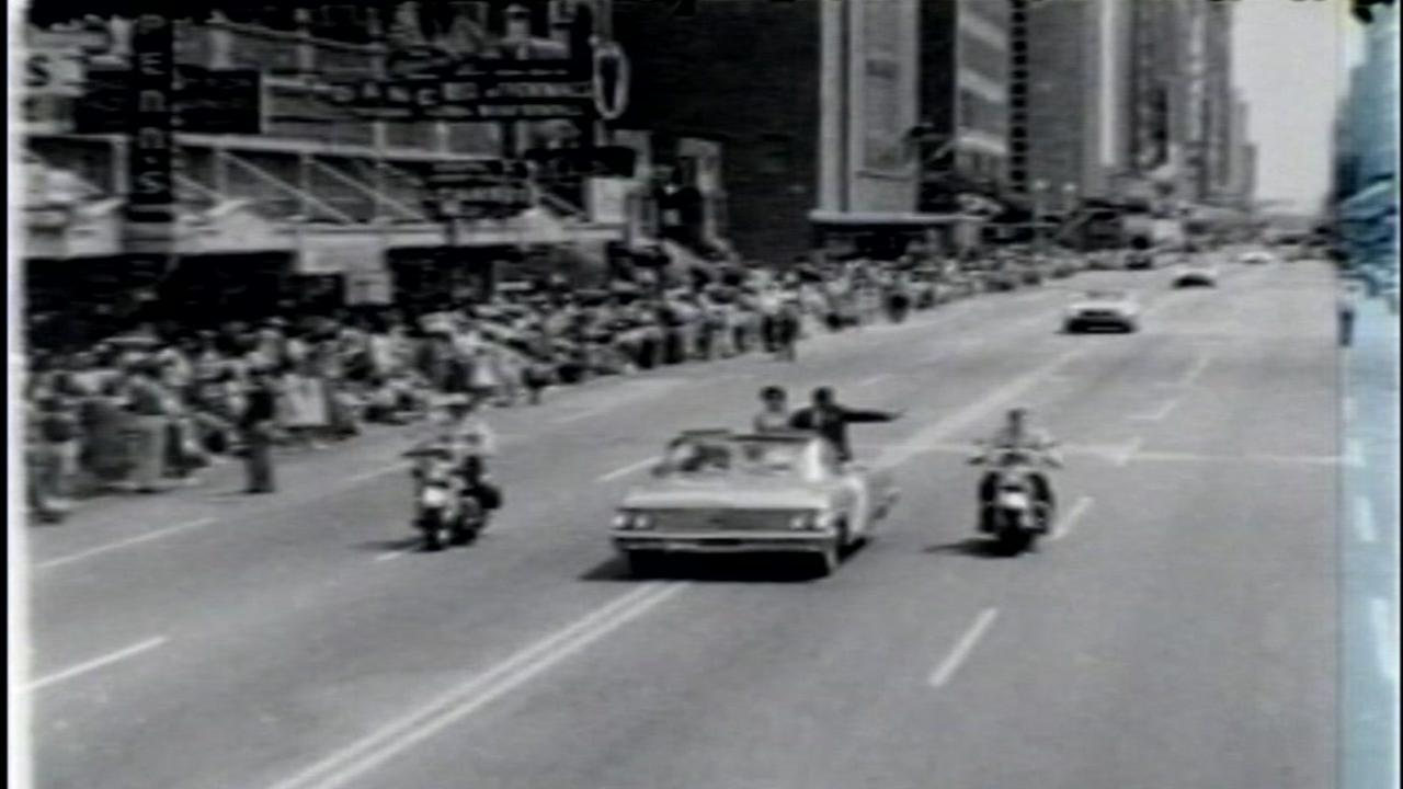 Mercury seven astronauts parade in Houston, 1962