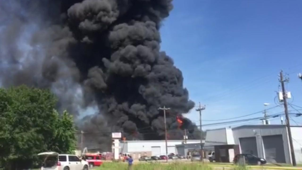 Four-alarm fire in Spring Branch