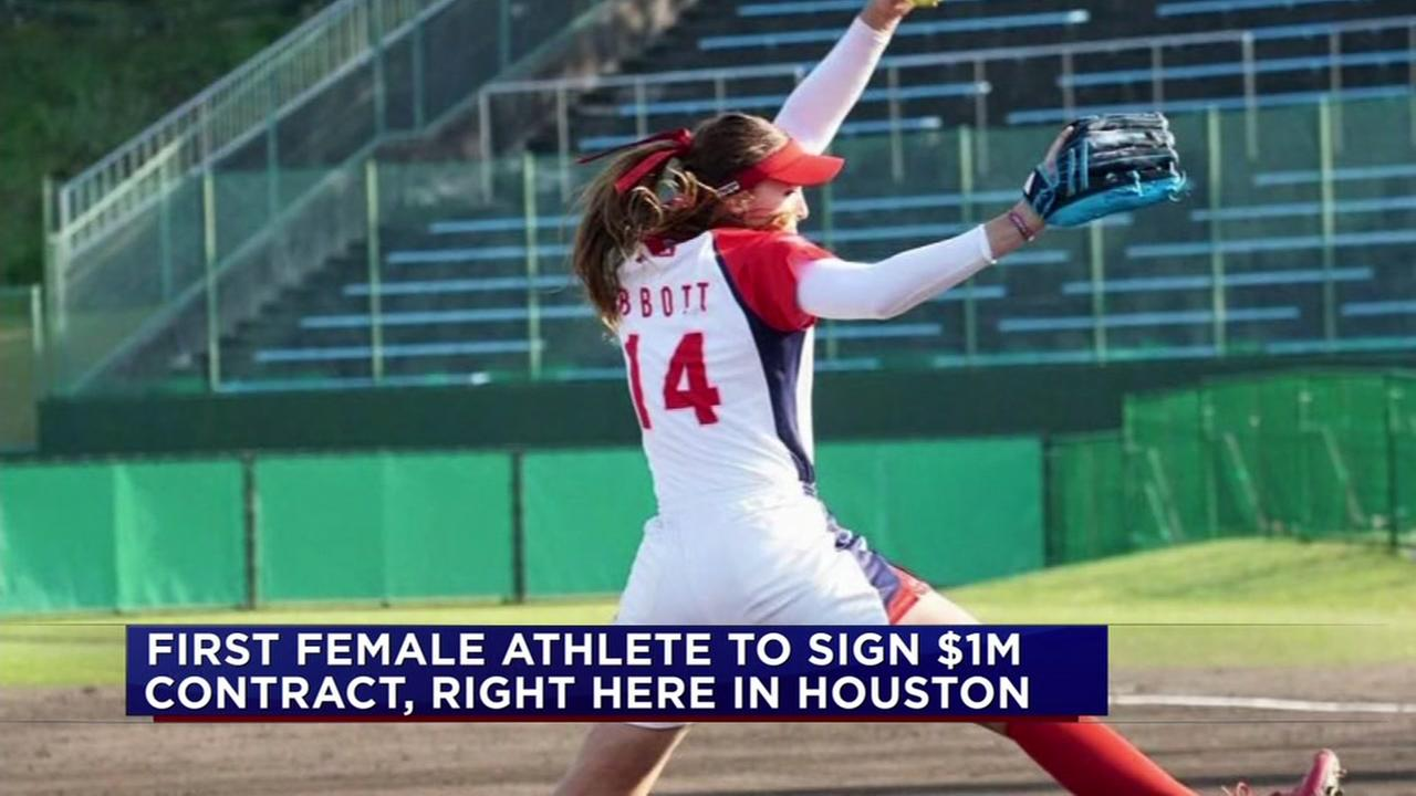 Female athlete signs $1M contract