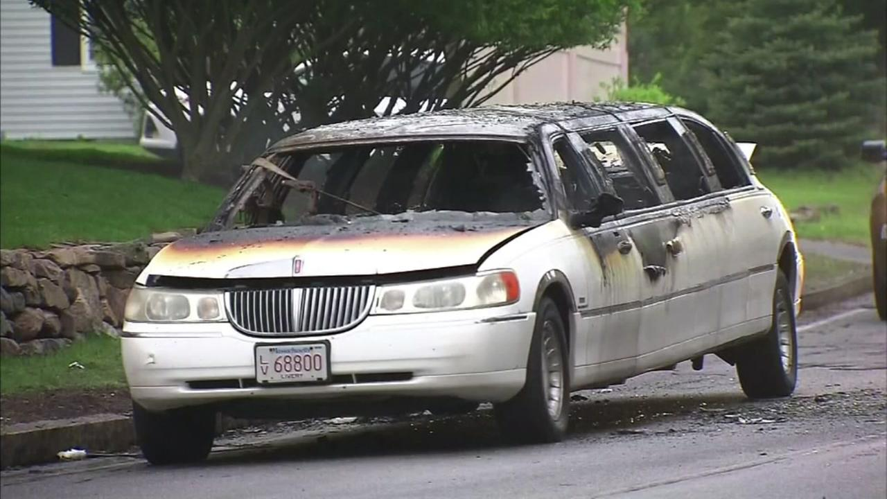 Limo catches fire on way to prom