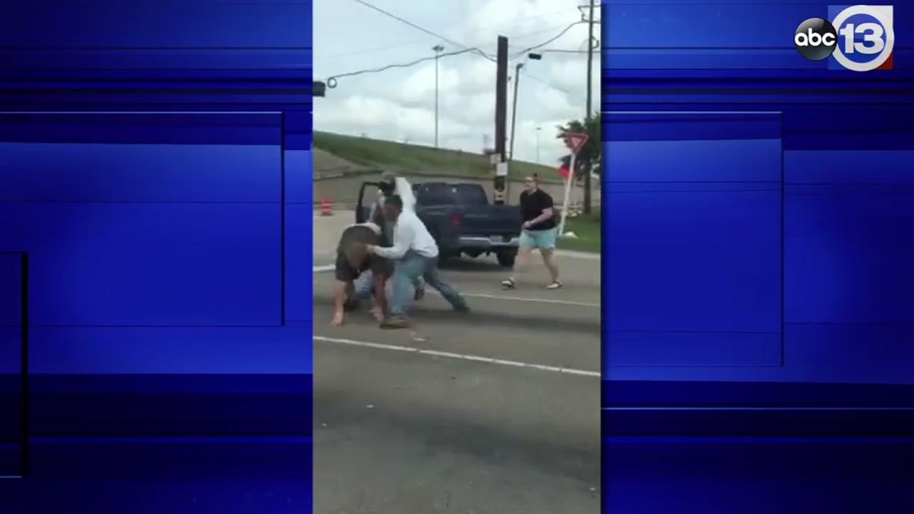 NW Houston road rage video FULL