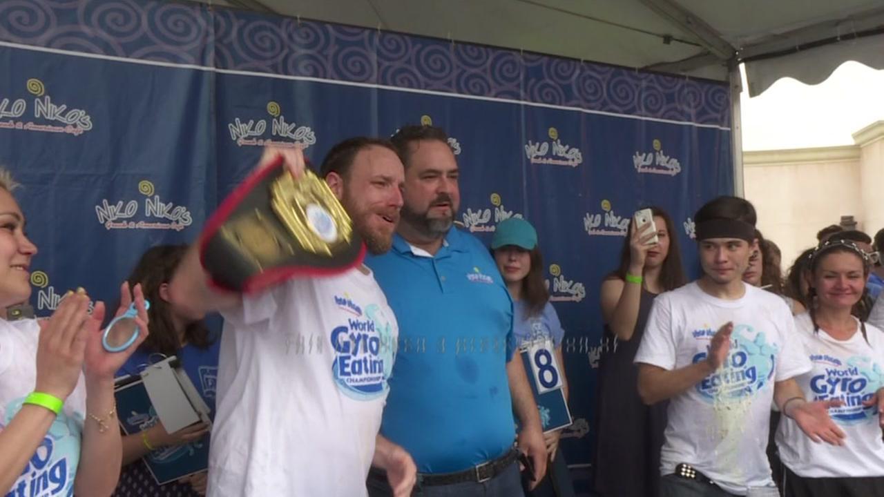 Joey Chestnut wins gyro-eating crown