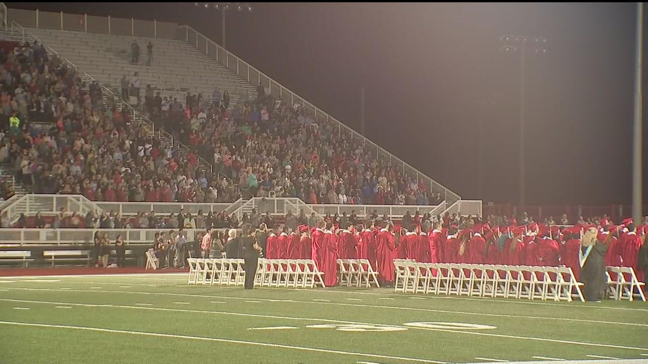Rainy weather forces delay of Crosby graduation