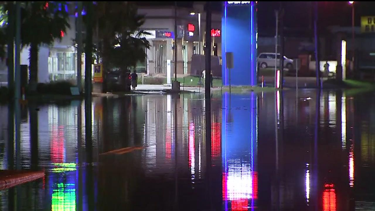 Flooding blocks roads near The Woodlands