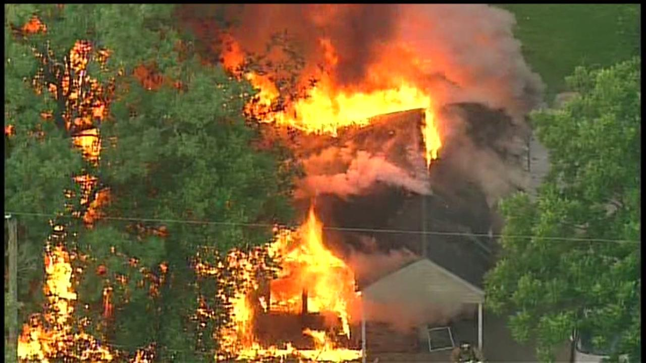Home engulfed in flames
