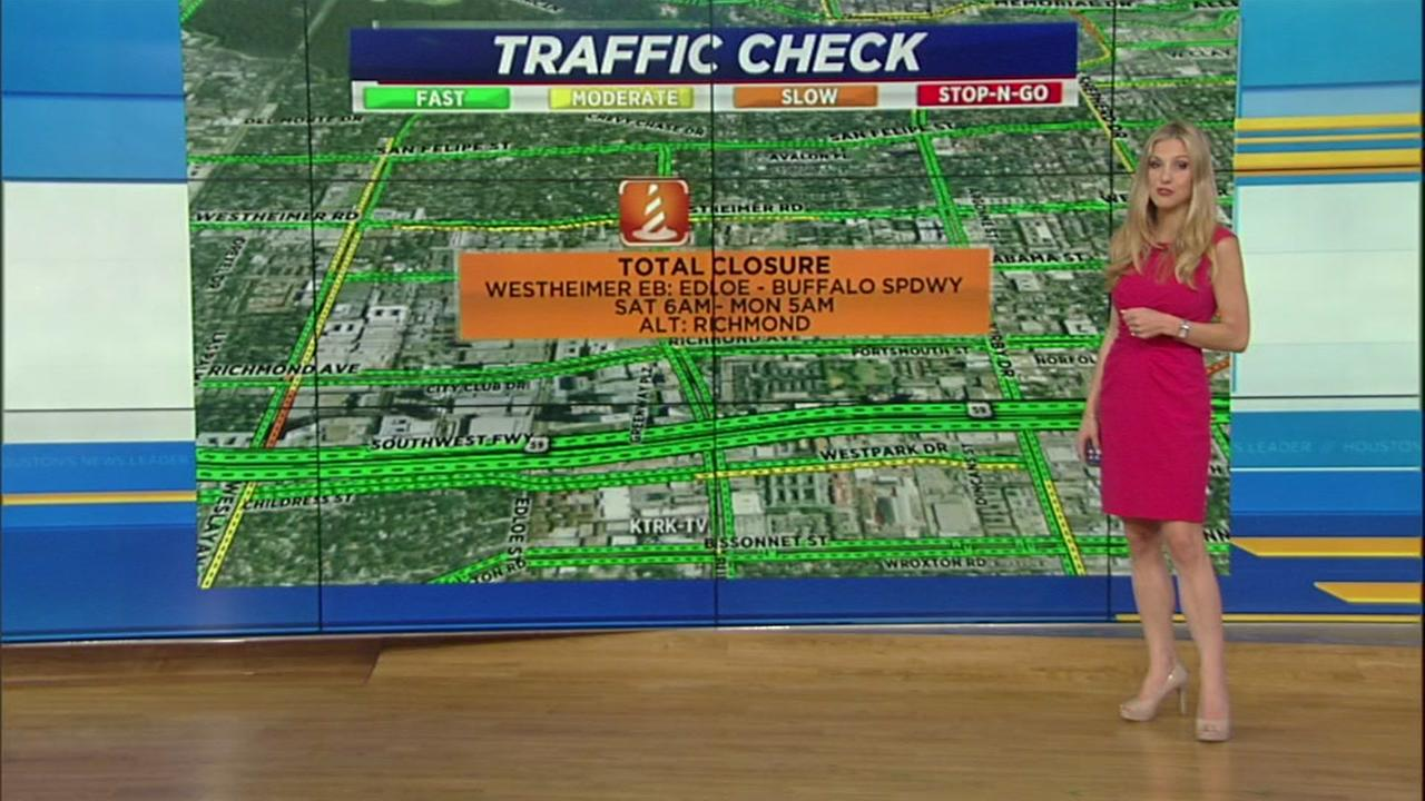 Weekend closures in Houston