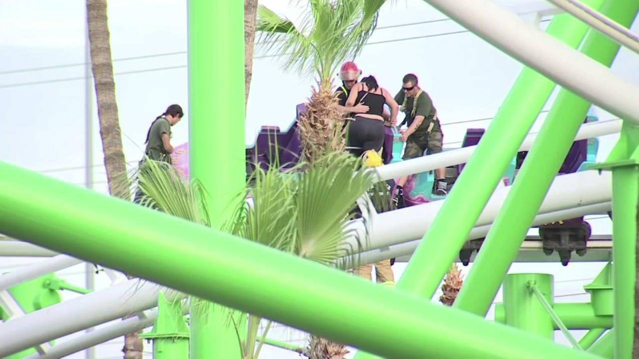 Roller coaster gets stuck