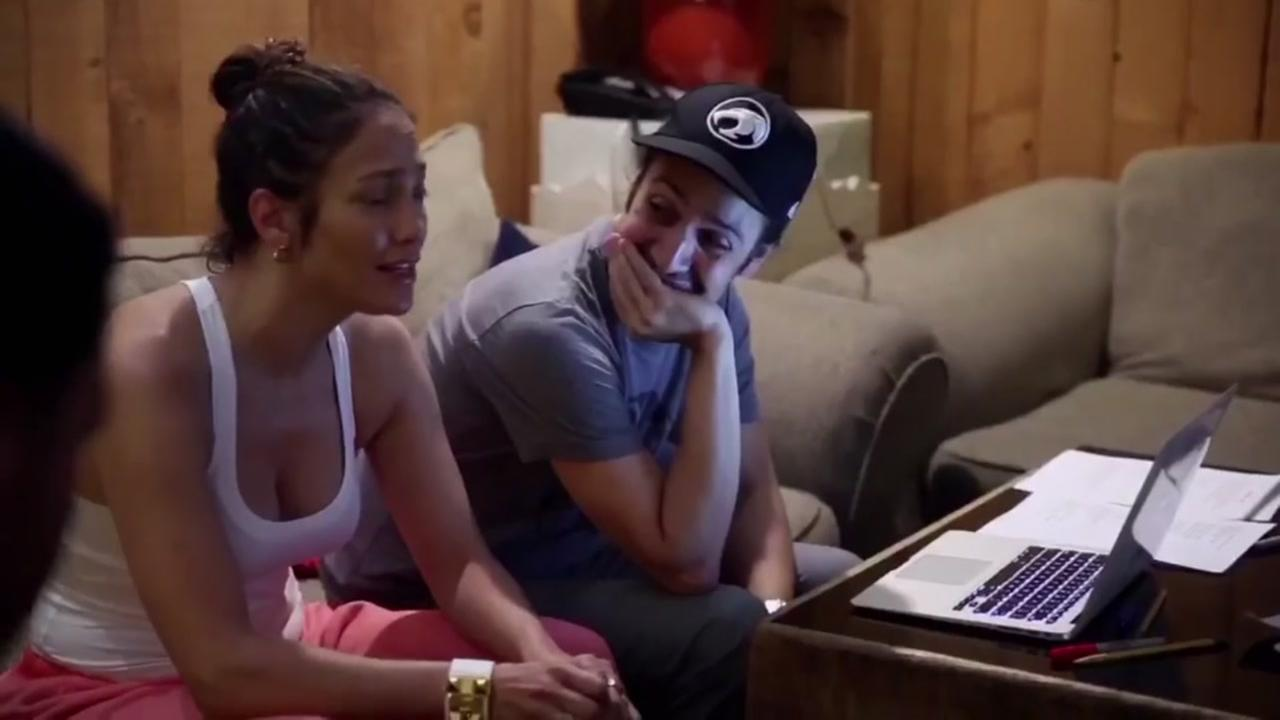 Lin-Manuel Miranda and JLO creating a song for Orlando victims