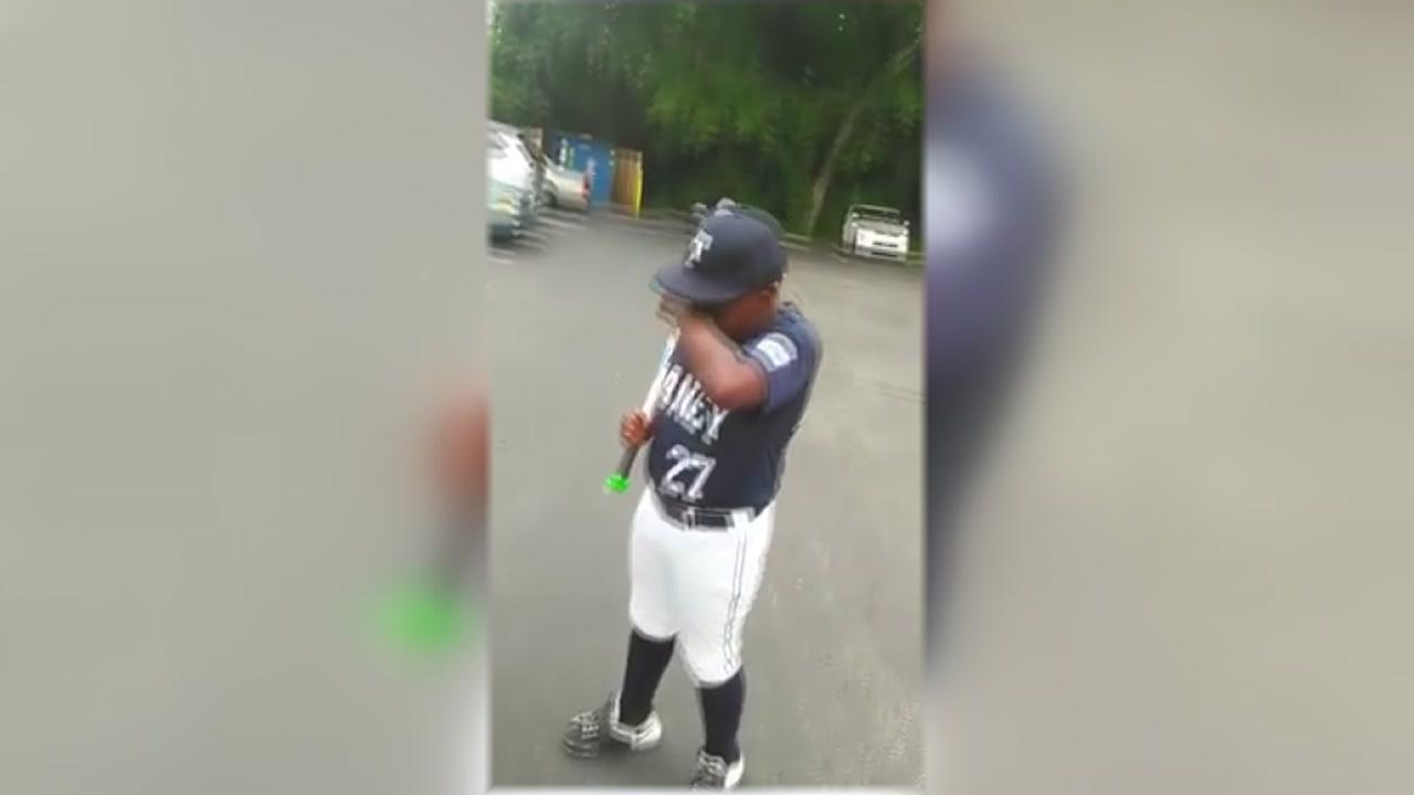 Dad Surprises Son Baseball