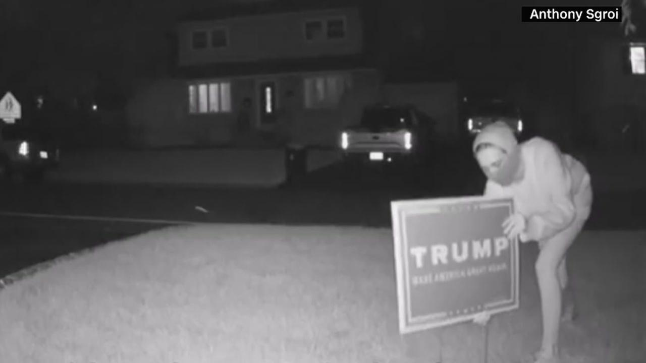 People stealing Trump signs