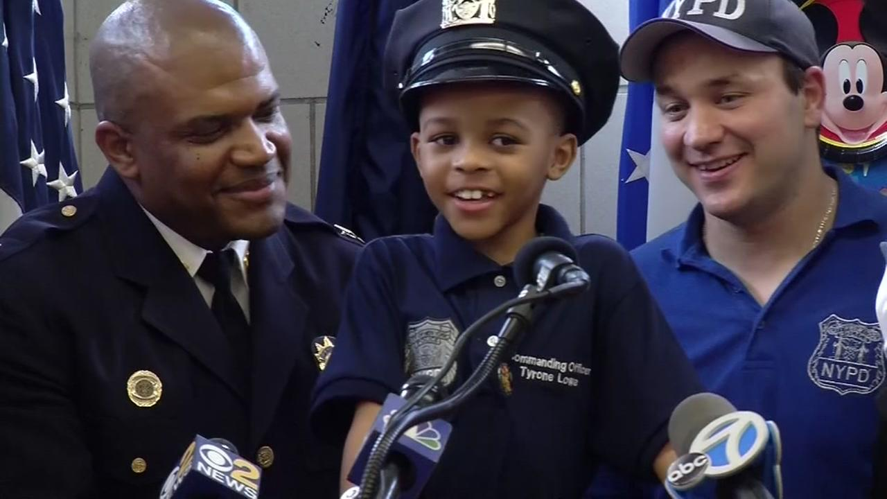 NYPD officers send orphan to Disney World