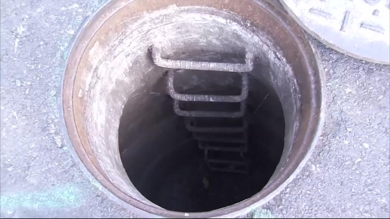 Workers discover signs of kids living in sewer
