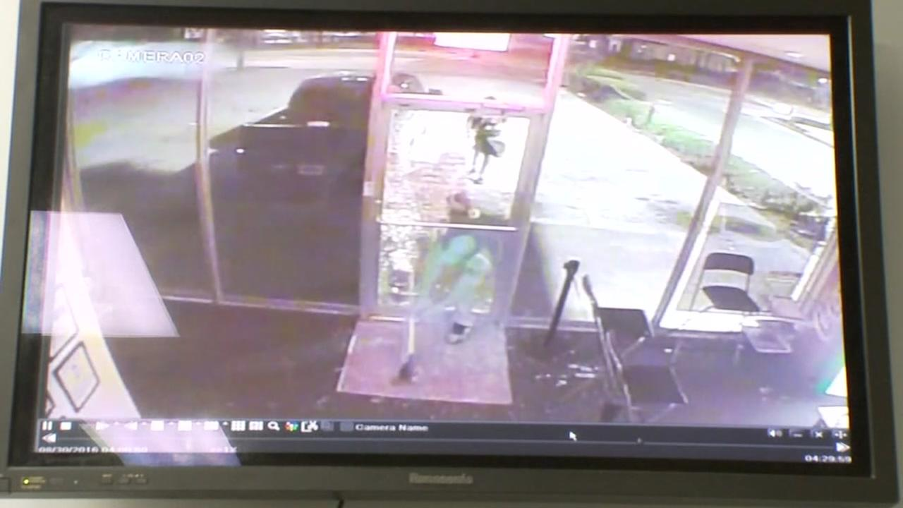 Burglars smash into store