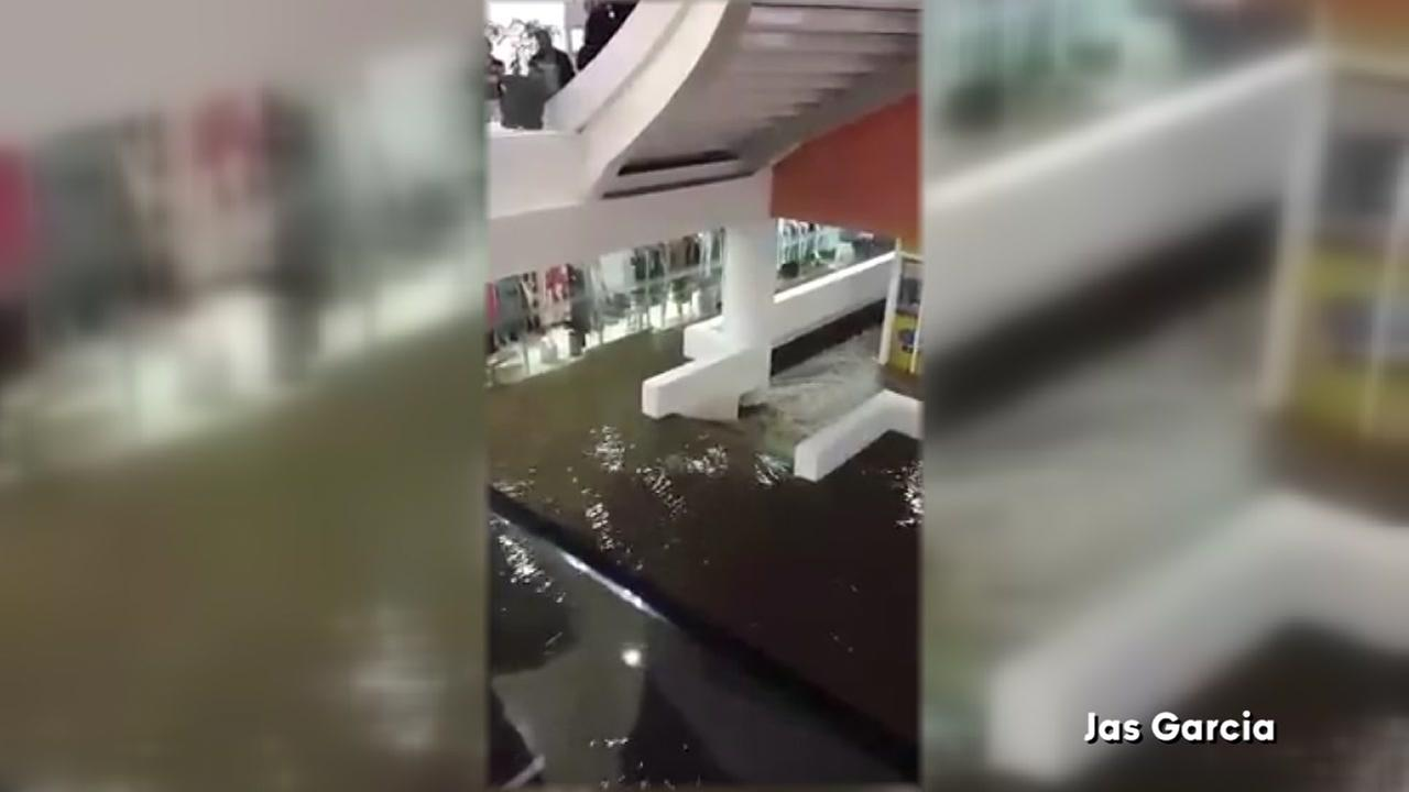VIDEO: Floodwaters rush through mall in Mexico