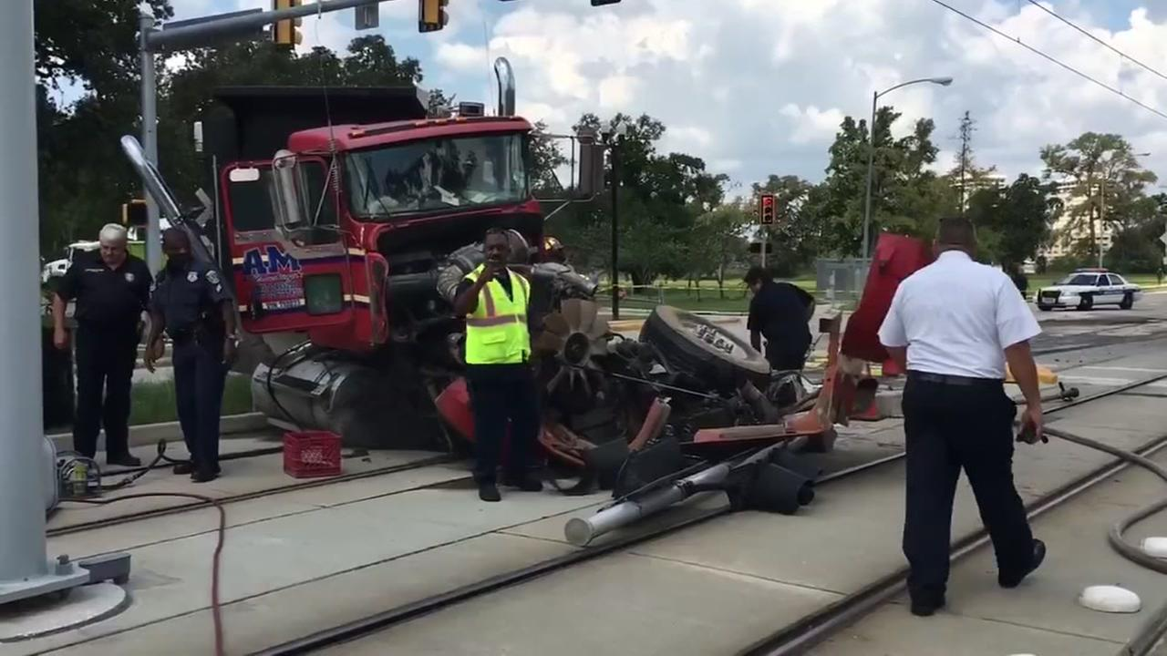 Metro light rail wreck
