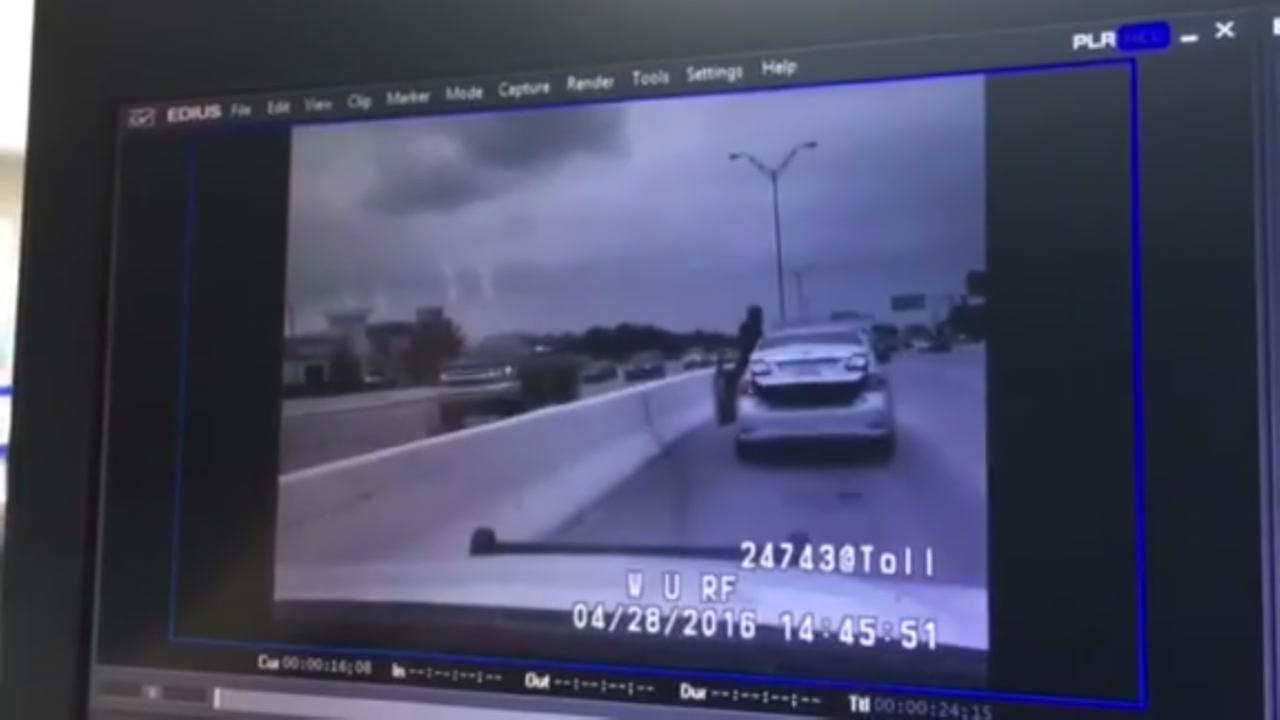 Dam cam video of deputy constable shooting