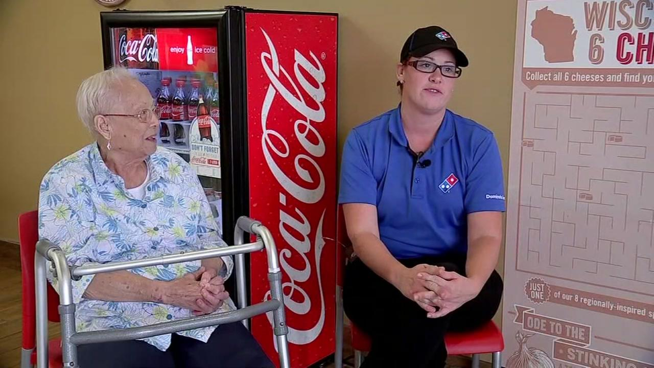 Pizza delivery driver comes to the rescue of elderly woman