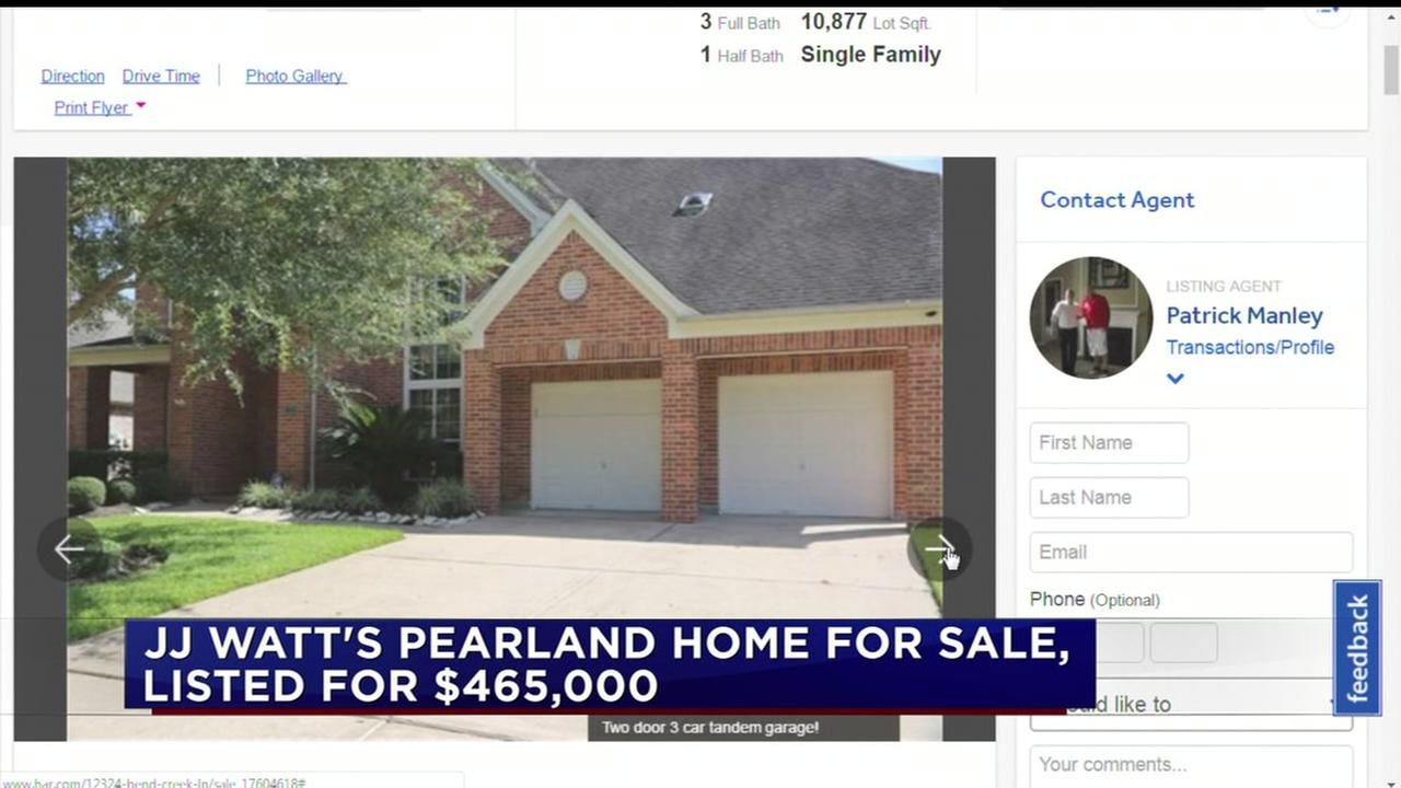JJ Watts Pearland home up for sale