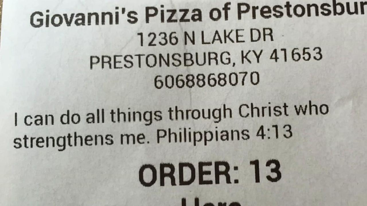Restaurant serves Christian message with meals