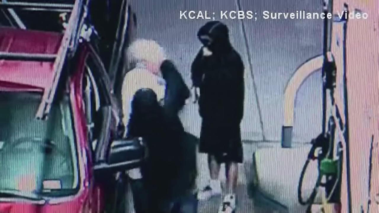 Elderly man punched at gas station