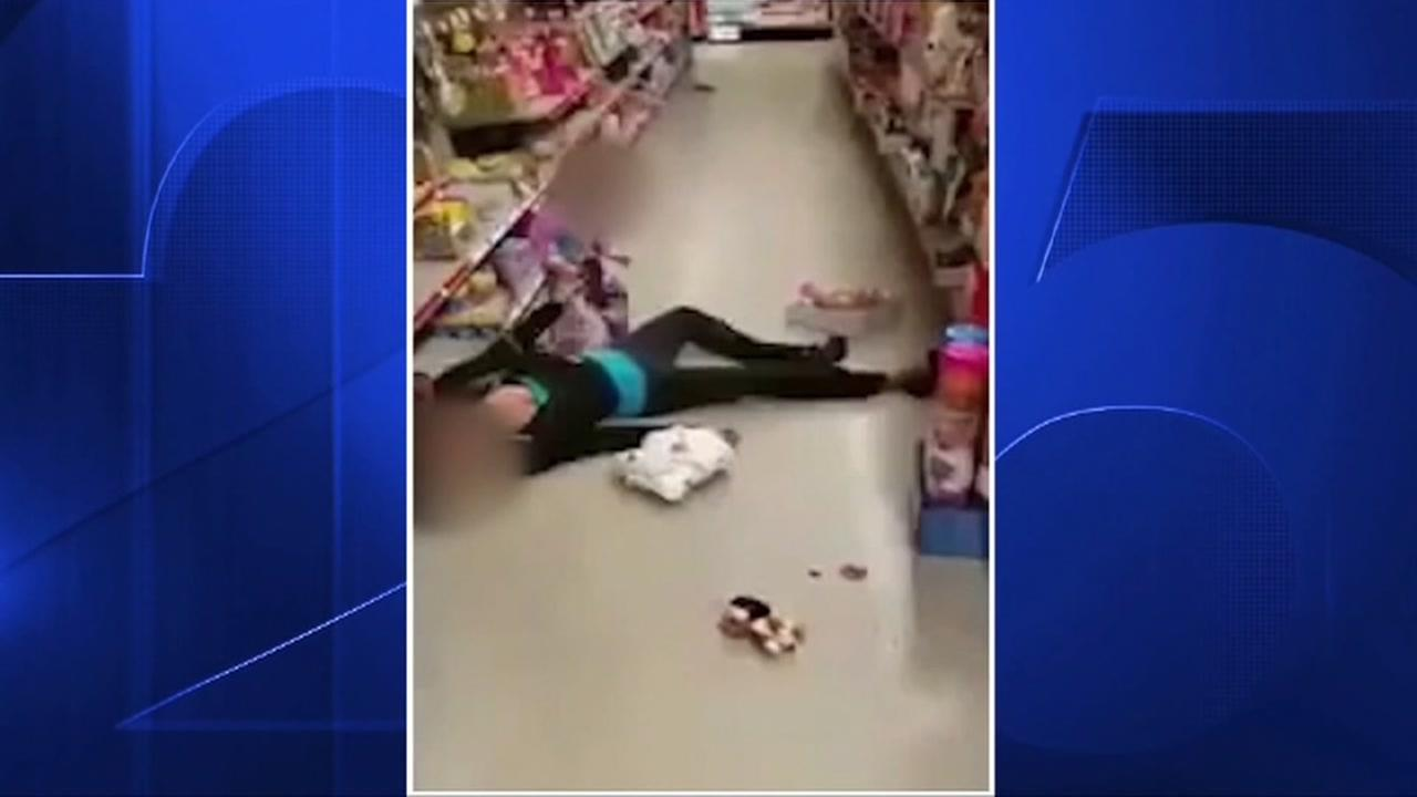 Woman overdoses in store