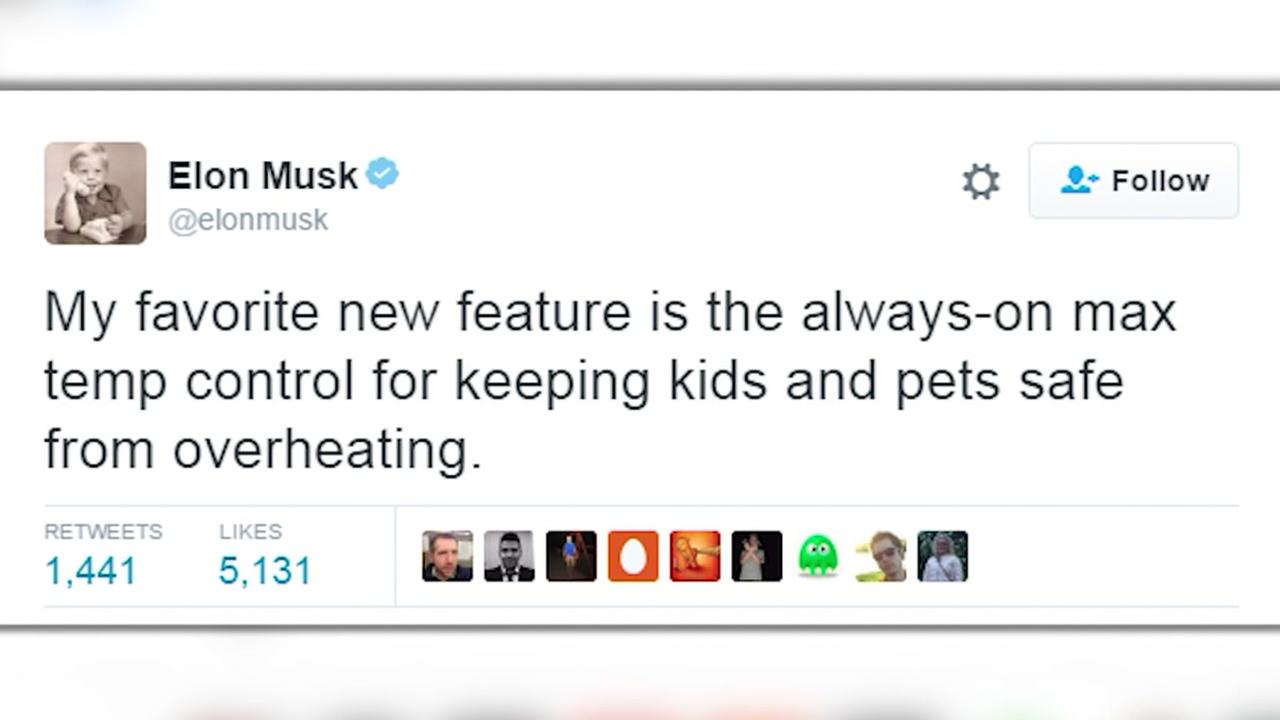 Tesla aims to prevent hot car deaths