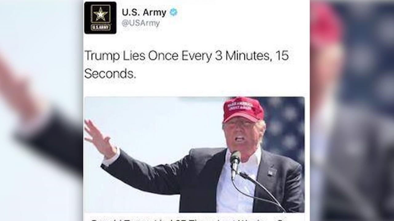 Army apologizes for anti-Trump tweet