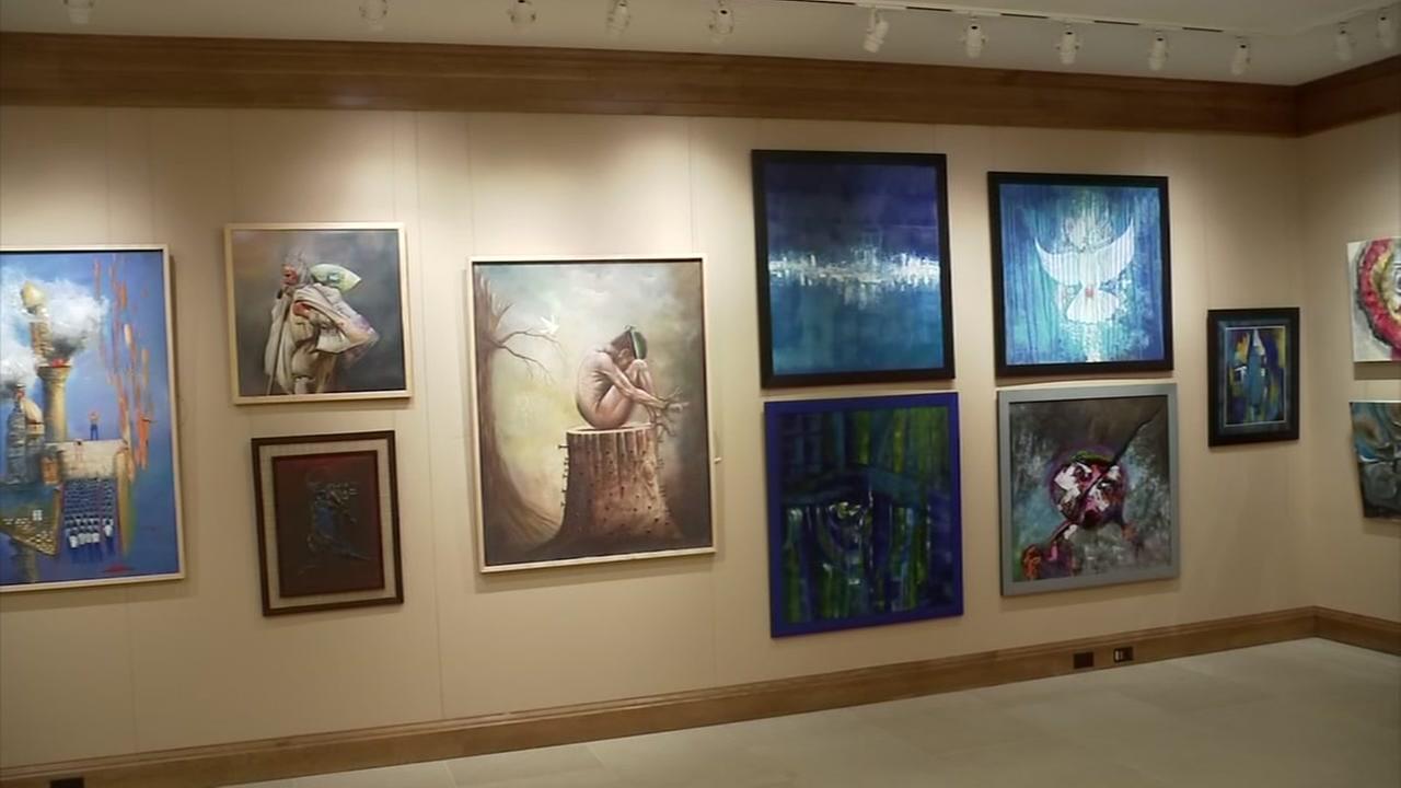 Refugees Showcase Their Artwork