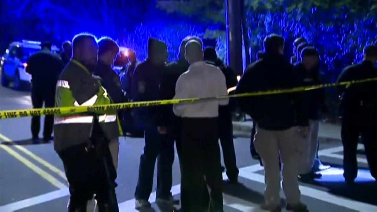 Raw video: Boston police officers shot