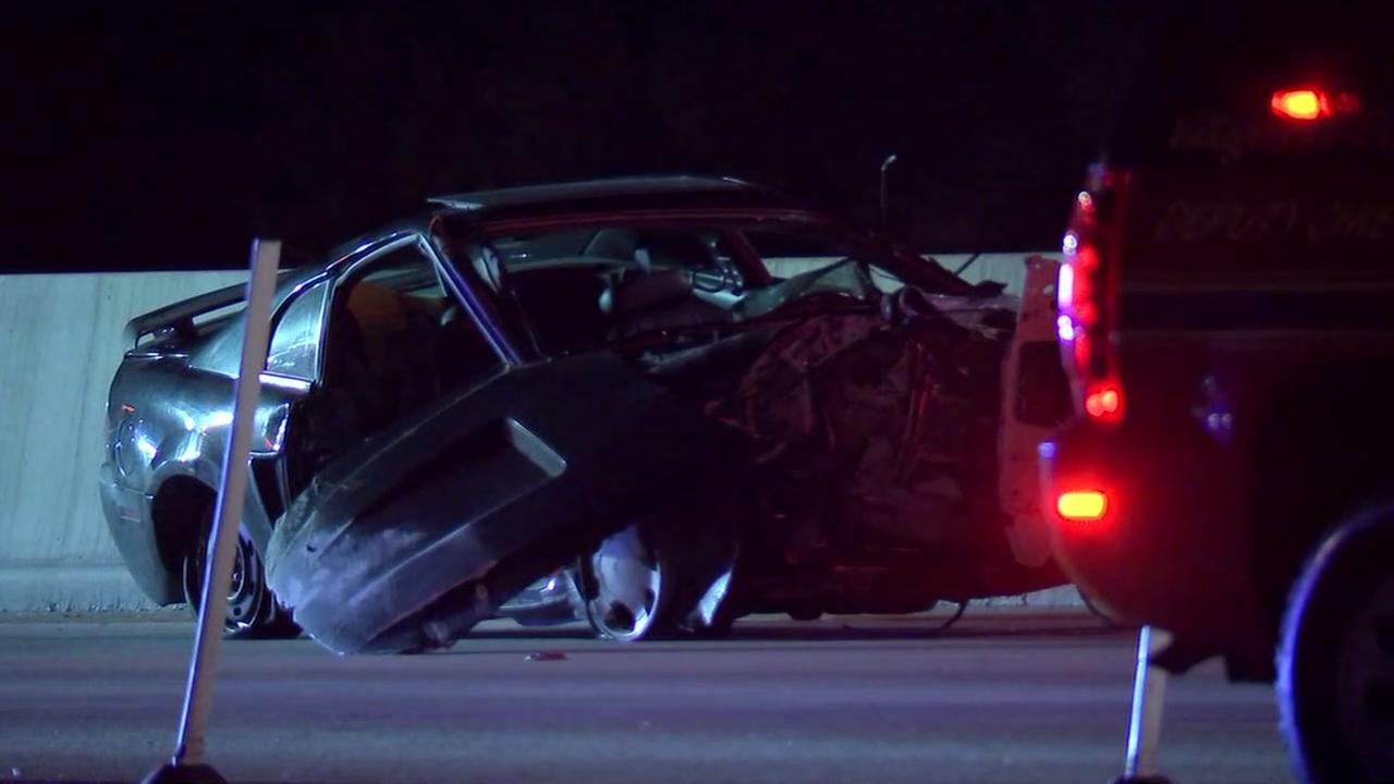 Raw video: Wrong-way crash on Katy Freeway