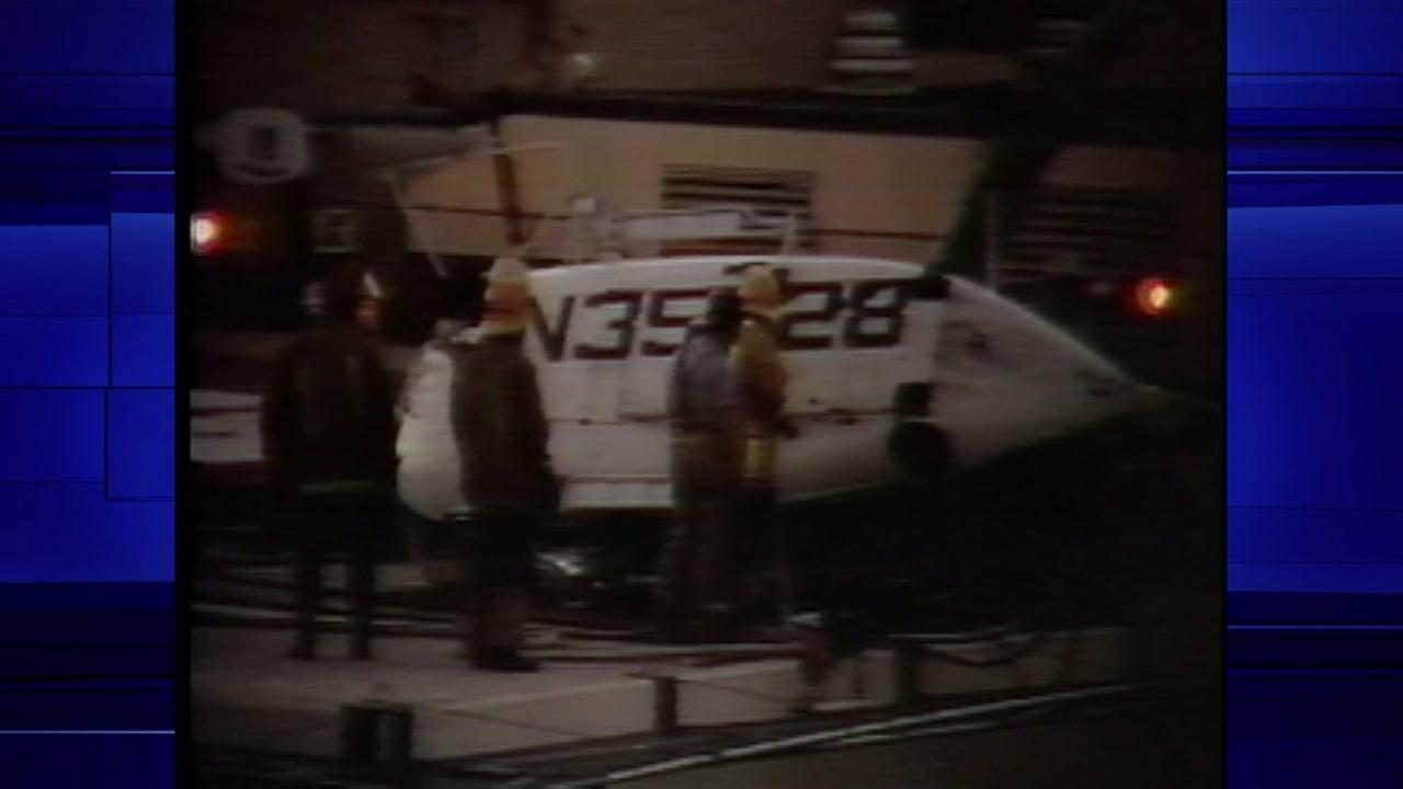 October 13, 1980, Lifelfight crashes at Hermann Hospital injuring two