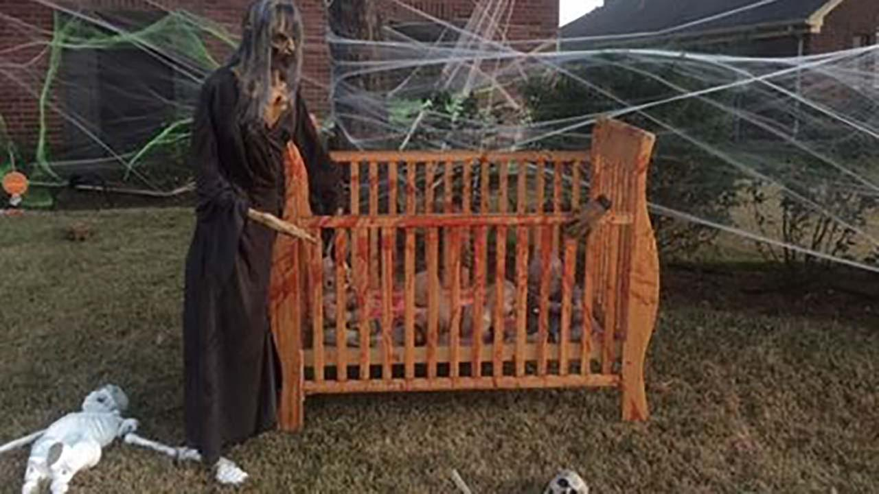 Neighbors express concern about Halloween decorations