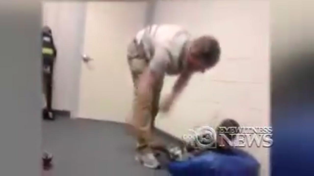 Viral video shows teacher throwing child on bean bag