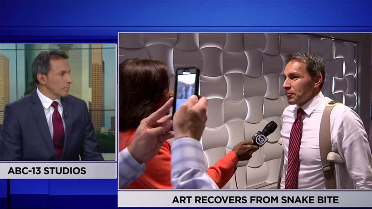 ABC13s Art Rascon returns to work after snake bite