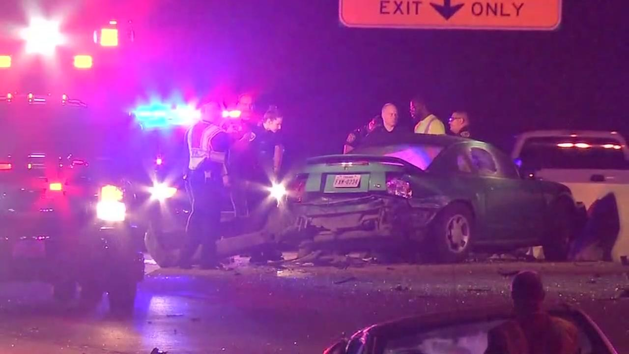 Wrong-way driver hits car head-on